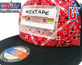 smARTpatches Truckers Vintage Style Clear Mixtape Cassette Trucker Hat Cap by lidstars headwear