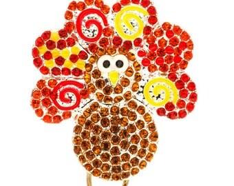 Turkey Time ID Badge Reel - Thanksgiving Badge Reel - SassyBadge - Holiday Badge Bling