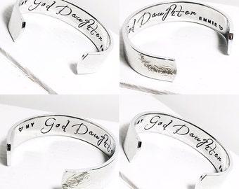 Goddaughter Gift | Personalised Goddaughter Gift | Childs Bracelet | Christening Gift | Baptism Gift | Childs Custom Bracelet (B006)