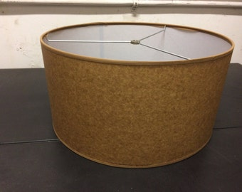 "Kraft Mid Century Modern Drum lamp Shade 16"" w x 8"" ht"