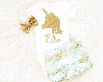 Unicorn Birthday outfit, First Birthday, Unicorn party, birthday outfit, my first birthday outfit, second birthday