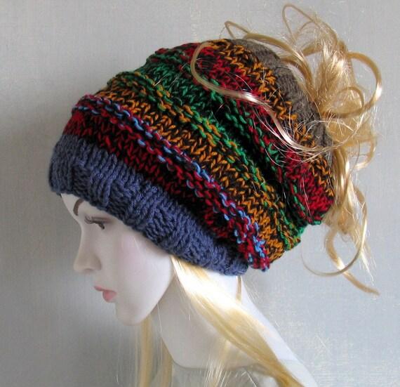 Dreadlock Headband Tube Hat Head Wrap Women Hat Plain Wide