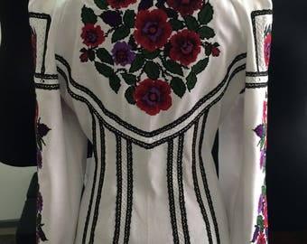 Women embroidered blouse, ukraininan blouse, ukrainische blusen, women blouse, women shirt, bohemian wedding, mother of the groom clothing