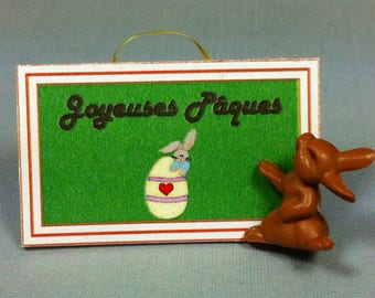 Sign Easter rabbit
