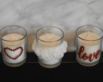 Set of 3 Votive Candle Holders