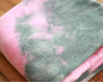 Brushed French Terry Knit Fabric Watercolor Pink By The Yard