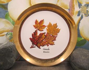 Hunnisett & Edmonds  Maple Leaf Plate