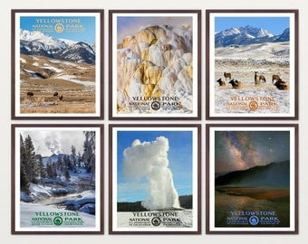 Yellowstone National Park - Yellowstone Poster - Yellowstone Art - Yellowstone WPA - WPA Poster - WPA Art - Yellowstone Print - Geyser