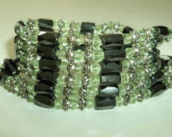 Magnetic Therapy Hematite, peridot,Tibetan Style Bead Wrap Necklace or Bracelet
