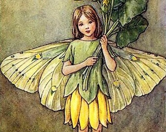 The Celandine Fairy - Counted cross stitch pattern in PDF format