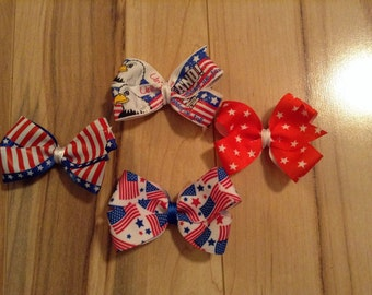 Patriotic Hair Bow Set