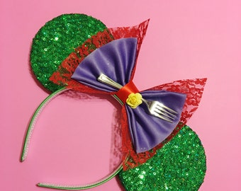 Ariel Inspired Sequin Mouse  Ears