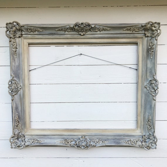 Antique Wood Frame Living Room Decor Large Hand Painted