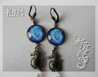 "Earrings ""hippocampus"""