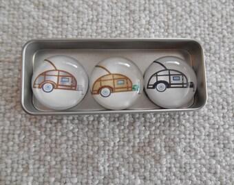 Vintage Teardrop Trailers Fridge Magnets