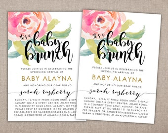 Perfect BABY BRUNCH   Shower Invitation, Baby Shower Brunch Invite, Baby Girl Shower  Invite,
