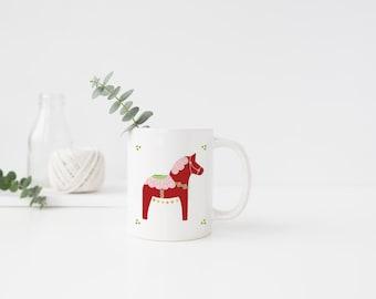 Valentine Dala Horse Mug