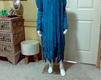Stenay Blue Sequin Dress/Sequin Beaded Dress/Art DecoVintage sequin dress/cocktail dress,beaded dress,Flapper dress 22