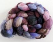 Merino Nylon,Holundergeist, handbemalte Fasern zum Spinnen,100g Kammzug, Sock Blend