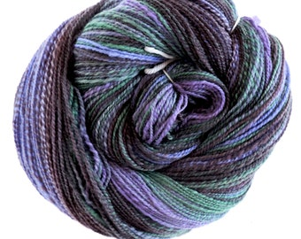 Merino Nylon,Down to the Riverdale, 100gr/476m/520 yard, handspun yarn, sock blend