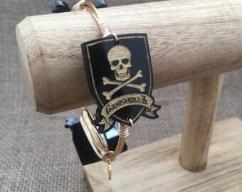 Gasparilla Tampa Festival Pirate Wire Wrapped Bangle Bracelet