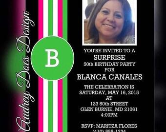 Birthday Party Invitation #PartyStripe