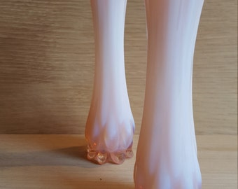 Fostoria heirloom pink opalescent bud vases (2) - PRICE INCLUDES SHIPPING