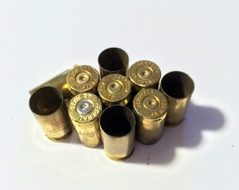 Empty Bullet Casing, 45 Auto, Expended Brass, Fired Bullets, Set of 10, Steampunk Jewelry Supply , Military Supply