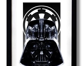 Star Black Empire Art Print by RUBIANT