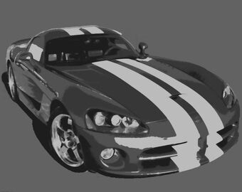 Dodge Viper Car Paint By Number Kit