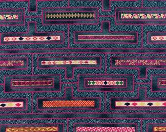 Hoffman Fabrics Mandalay Delft Gold M7407-243G Cotton Fabric by the Yard