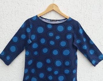 Vintage Marimekko Womens Cotton Top Size Small