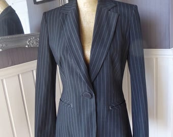 Ladies Pinstriped Jacket, Tailored Pinstriped Jacket, UK Size 8