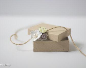 White Ivory Brown Newborn Tieback, Newborn Baby Toddler Girl Headband, Baby Tieback, Organic Tieback,  Photo Prop, Organic Tieback