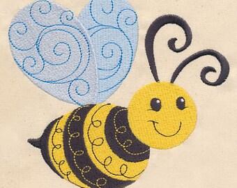 Good Doodle Bee Kitchen Towel