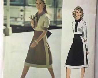 1970's Pertegaz Vintage Vogue 2567 Couturier Misses' Bodysuit Blouse & Skirt Pattern Size 14 Bust 36 uncut
