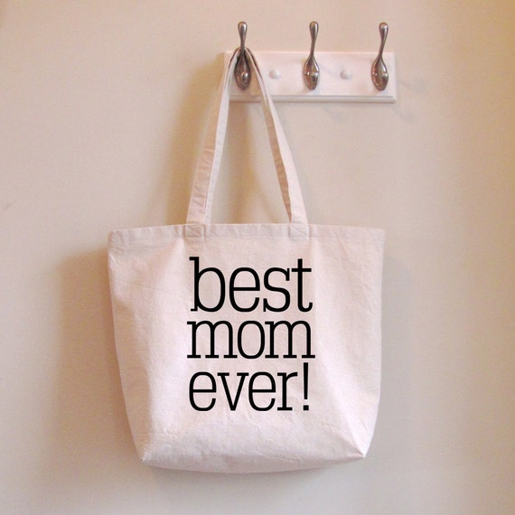 Tote Bag Best Mom Ever Carryall Shopping Bag Book Bag