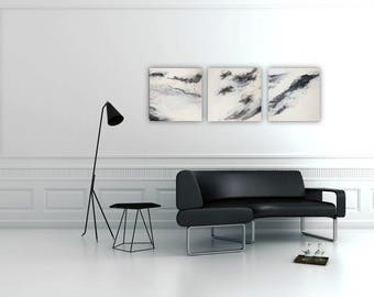 White marble original painting 16x16
