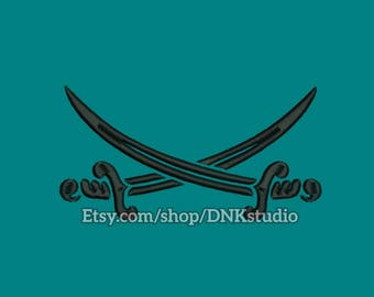 Pirate Swords Embroidery Design - 6 Sizes - INSTANT DOWNLOAD