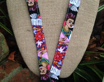 Frida Kahlo Lanyard ID Badge Holder Spanish Teacher Lanyard Art Teacher Lanyard