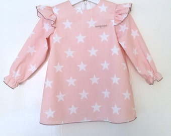 Dress dusty pink stars