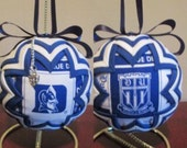 Handcrafted Quilted Duke University Ornament