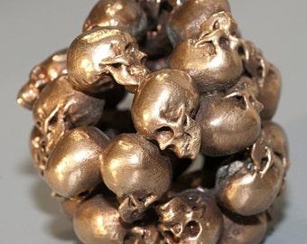 Human Skulls - Ball of Skulls - Human Skull Pendant - Skull Sculpture - Skull Paperweight - Skull Keychain