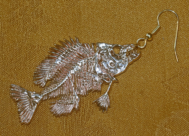 pesce persico sole orecchini scheletro persico sole - Persici Arredo Bagno