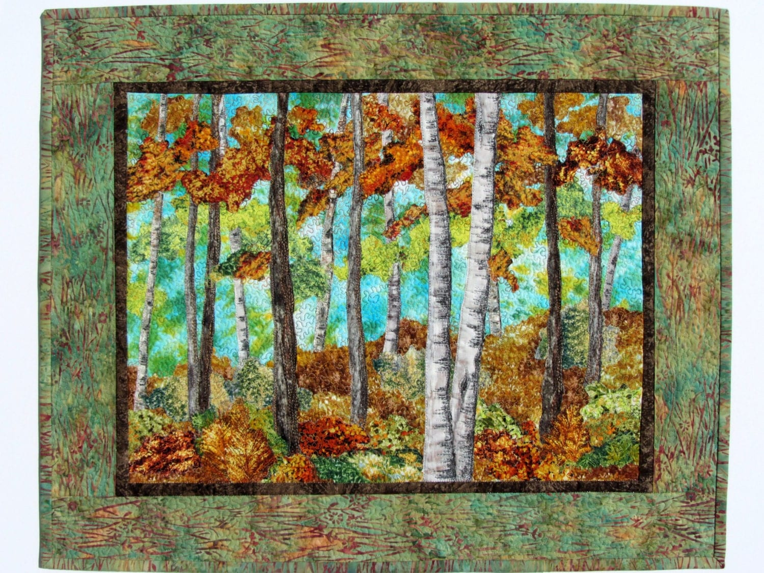 Landscape Quilt Patterns Kits : Landscape Quilt Trees Quilt Wall Hanging Wall Quilt Birches