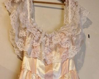 Gunne Sax 1970s Ribbon Candy Party Dress