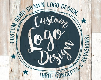 Custom Hand Drawn Logo Design OOAK - Start Up - Branding - Business Identity - Professional - Marketing - Blog Logo - Photography Logo