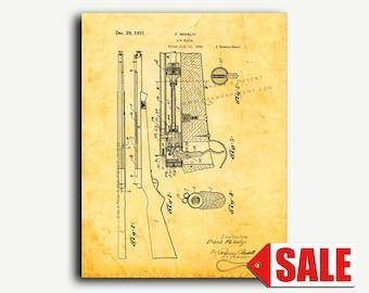 Patent Art - Air Rifle Patent Wall Art Print