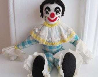 Scary Clown! Handmade vintage clown.