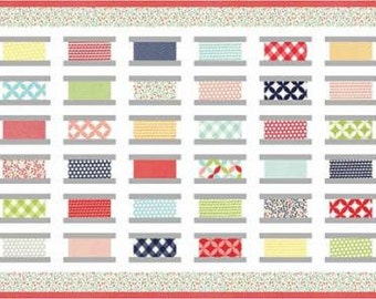 Bobbin Box Quilt Kit featuring Bonnie & Camille Basics for Moda Fabrics. KIT55023